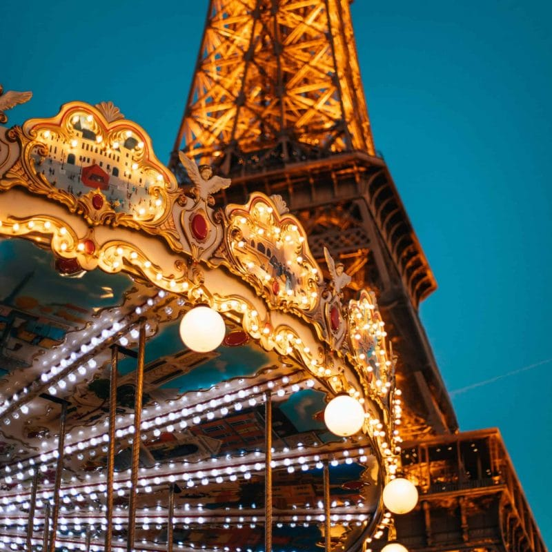 Eiffel Tower + Carousel