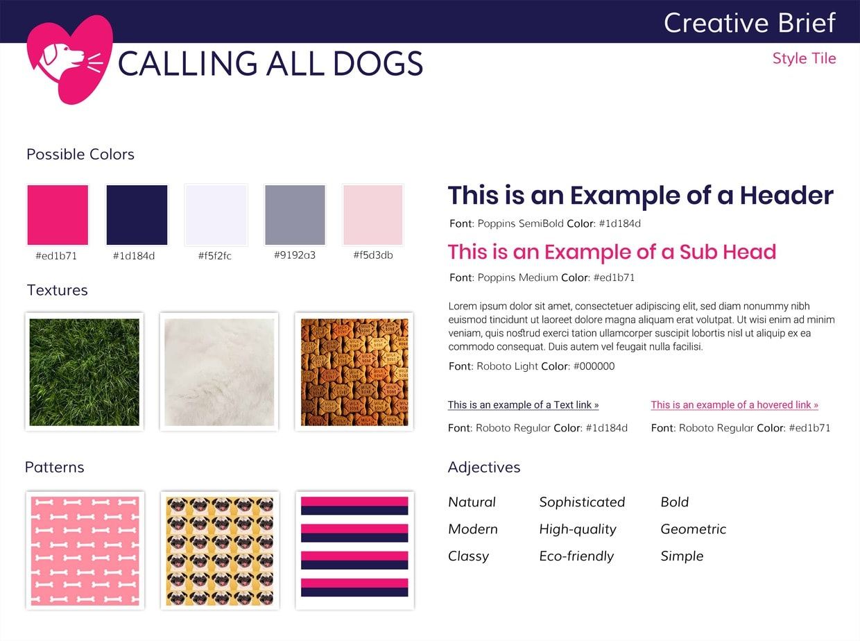 Calling All Dogs Style Tile