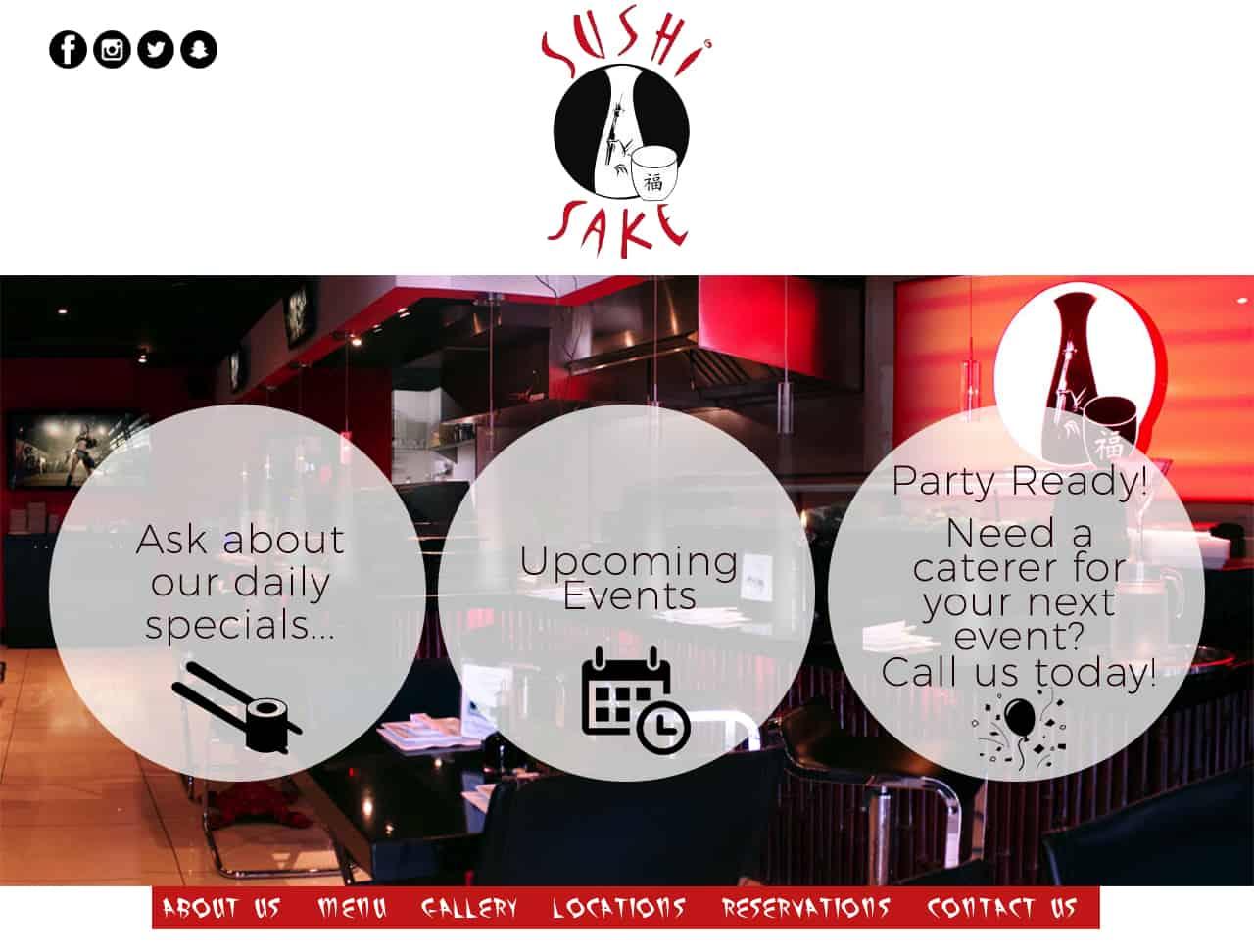 Restaurant Website Mockup