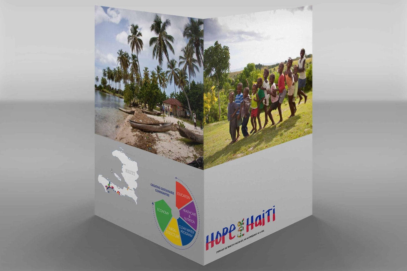 Front and Back of Hope for Haiti Folder