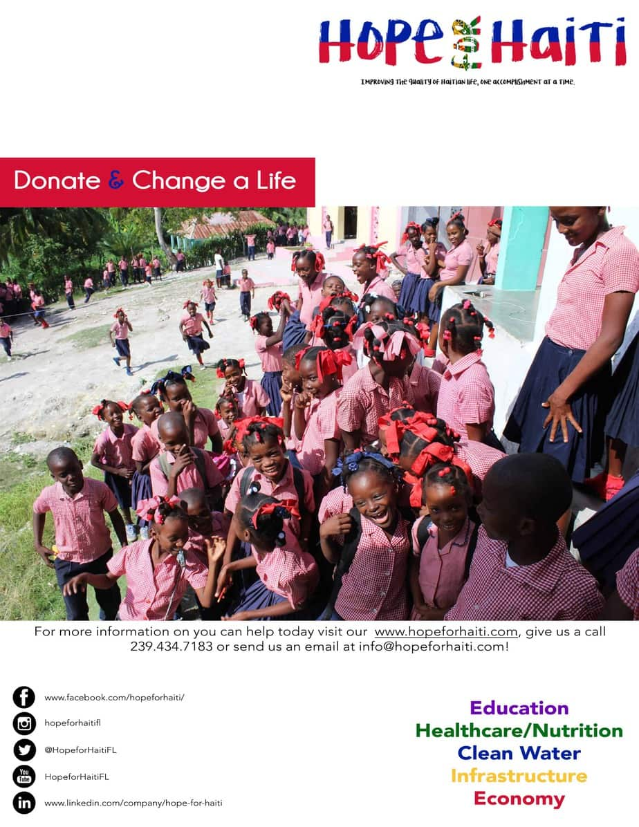 Promotional Flyer for Hope for Haiti