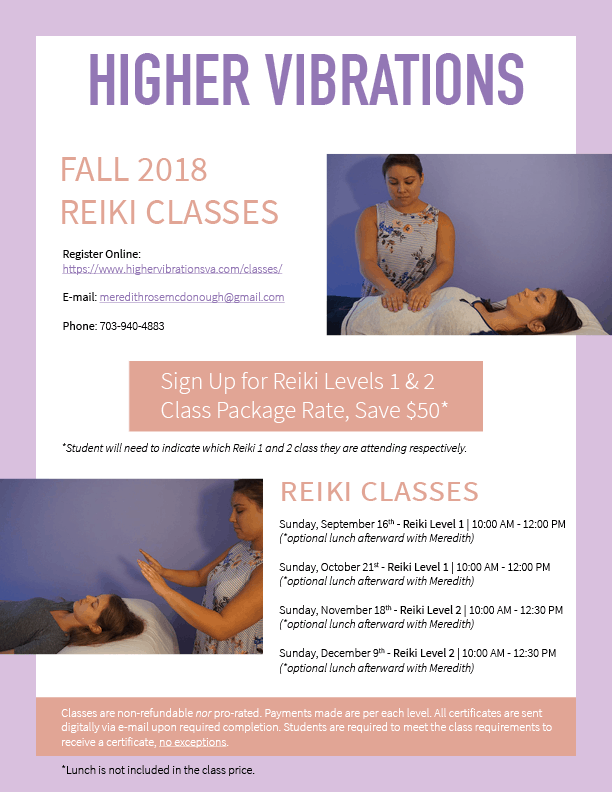 Reiki Fall 2018 Flyer