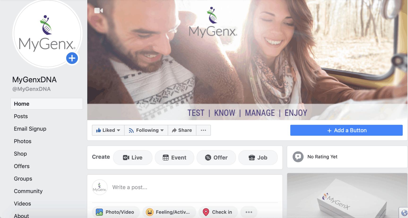 MyGenx® Facebook