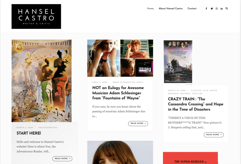 Hansel Castro's Website